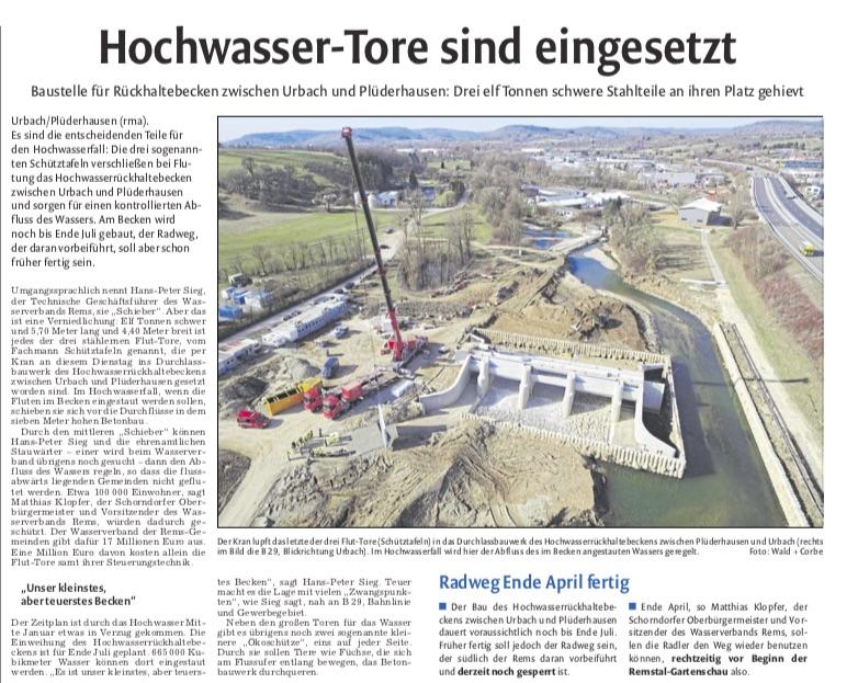 HRB 4 Plüderhausen / Urbach